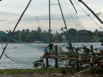 Famous fishing nets - need 5-6men to operate