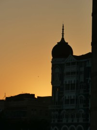 Silhouette of the Taj Mahal Palace hotels