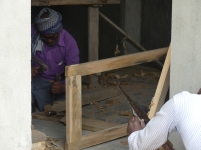 Manual construction of the window frames