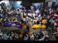 Flower market at night